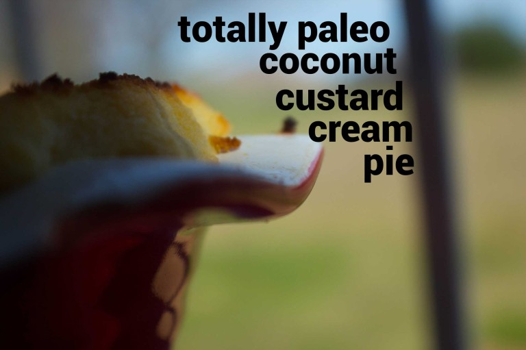 totally paleo coconut custard cream pie